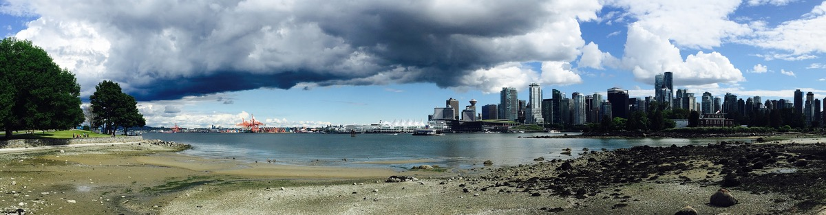 Panorama photo of Vancouver, English Bay